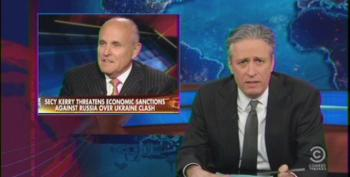Stewart Rips Fox Pundits For Their Man Crush On Putin