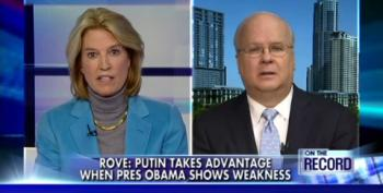 Chickenhawk Rove Attacks Obama's 'Hands-Off' Foreign Policy