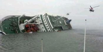 Two Dead, 368 Rescued From Capsized S. Korea Ferry