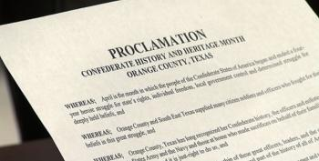 "Texas County Names April ""Confederate History And Heritage Month"""