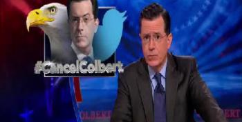 "Stephen Colbert Strikes Back Against ""Dark Forces"" Of #CancelColbert"