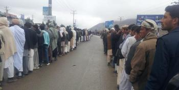 Afghans Turn Out To Vote In Droves