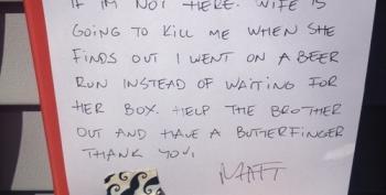 Open Thread - Best Mailman Note Ever.