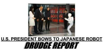 It's Happening: Right Wing Heads Explode, Obama Bows To A Japanese Robot