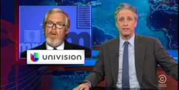 Stewart Calls Out MRC's Bozell For Attacking Univision's Support Of ACA