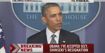 President Obama Announces VA Sec. Eric Shinseki's Resignation