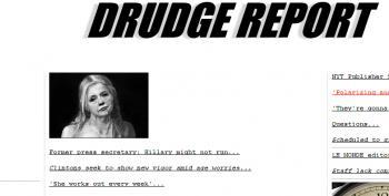 Drudge Report's Horrific Hillary Clinton Graphic