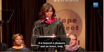 Michelle Obama Asks Students To Speak Up Against Old Prejudices At Topeka Speech; Winguts Explode