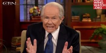 TEAvangelical Kook Pat Robertson Claims Obama Is Killing Businesses As Dow Hits Record-Breaking High (Video)
