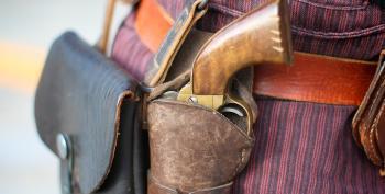 Gun Seller 'Second Amendments' Customer At Gun Show