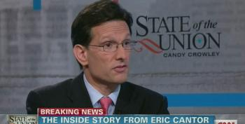 Mr. 'Government Shutdown' Cantor Blames Economic Woes On Obama