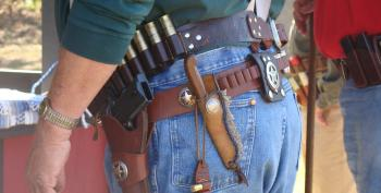 Open Carry Supporter Upset, Told He Can't Vote At Poll With A Loaded Gun