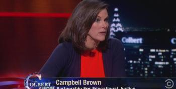 Colbert Spars With Union-Busting Campbell Brown