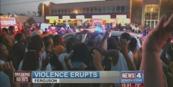 Peaceful Protest In Ferguson Turns Violent