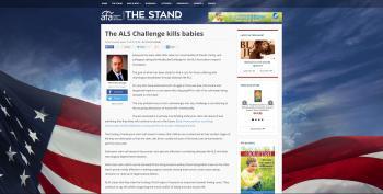 AFA Jumps The Shark: 'ALS Challenge Kills Babies'