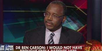 Wingnut Ben Carson Suggests A Terrorist Might Want To Pay $1M For Ebola-Tainted Urine