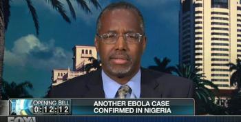 Ben Carson: Creating Ebola Hysteria While Considering A 2016 Run