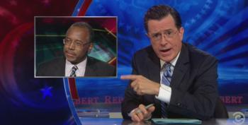 Stephen Colbert Lets Trump And Dr. Ben Carson Have It Over Ebola Fearmongering
