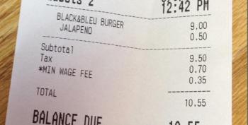 Cafe Serves Coffee, Tea, Burgers And Minimum Wage Fee