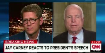 John McCain Shouts Over Jay Carney, But He's Still Wrong About Iraq