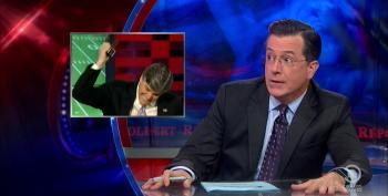 Stephen Colbert Mocks Sean Hannity's Bizarre Defense Of Adrian Peterson