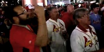 Watch How Racist St. Louis Cardinals Fans Treat Michael Brown Protesters