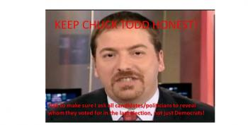 Help Hold Chuck Todd To The Same Standard For All Interviews