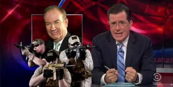 Colbert To 'F**king Egomanic' O'Reilly: 'I Wasn't Mocking Your Plan. I'm The Only One Who Liked It.'