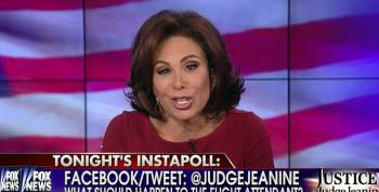 Fox News' Pirro Hopes Flight Attendant Dies For Not Hanging Soldier's Coat In First Class