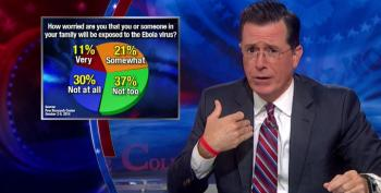 Colbert Frets That Media's Fearmongering Over Ebola Isn't Working