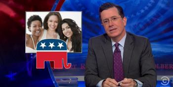 Colbert Mocks College Republicans' 'Say Yes To The Dress' Ad