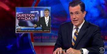 Colbert Mocks Hannity's 'Question Of The Day' Segment Bragging About His New Workout