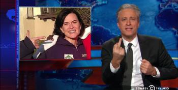 Jon Stewart Takes On 'PointerGate' And Gives Minneapolis Cops The Finger