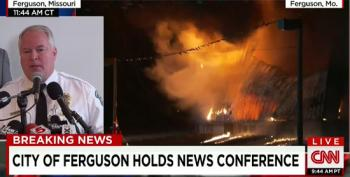 Reporter Asks Ferguson Police Chief If PTSD Counseling Available For Cops