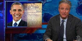 Stewart Rips Republicans For Claim That Obama Is Shredding The Constitution