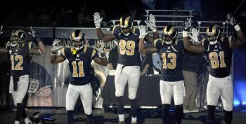 St. Louis Police Union Demands Punishment For 'Hands Up' Gesture By Rams Players