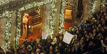 Protesters Rewrite Carols: 'All I Want For Christmas Is An Indictment'
