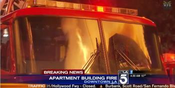 Two Freeways Shut Down By Major Fire In LA