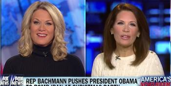 Bachmann Complains That Obama Was 'Fairly Condescending' To Her When She Asked Him To Bomb Iran At W.H. Christmas Party
