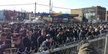 Hundreds Of NYPD Officers Turn Backs To Bill DeBlasio At Officer's Funeral - (Updated)