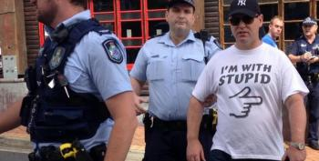 Man Wearing 'I'm With Stupid' T-Shirt Arrested For Public Nuisance
