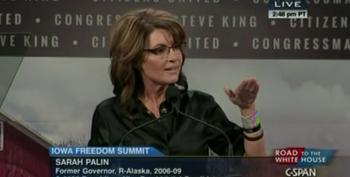 Sarah Palin Gives Long, Rambling, Incoherent Speech At Steve King's Wingnut Fest
