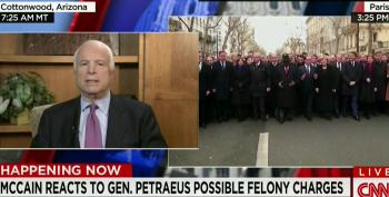 McCain Attacks DOJ For Leaking Recommendation Of Criminal Charges Against Petraeus