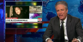 Jon Stewart Gives Cable Networks Treatment They Deserve For 'Blizzapocalypsegeddon 15'