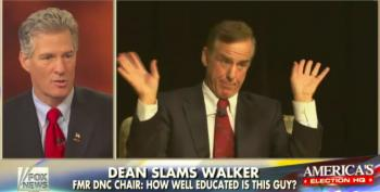 Centerfold Scott Brown Defends Gov.Walker's Lack Of Education