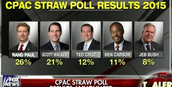 Rand Paul Wins CPAC 2015 Straw Poll