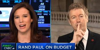 Rand Paul Belittles Female CNBC Host During Tough Interview