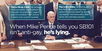 Mike Pence Surrounded By Bigots When He Signed SB101 Into Law
