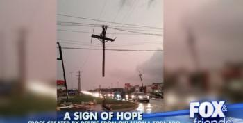 A Cross Means God Is With Us Even If He Brought Us A Tornado