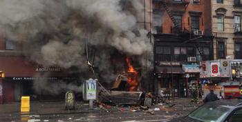 NYC Explosion, Building Collapse Causes Massive Fire In East Village